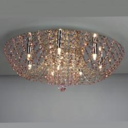 CL305101 Орион Хром+Розовый Св-к Люстра