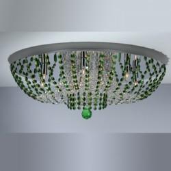 CL305102 Орион Хром+Зеленый Св-к Люстра