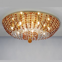 CL305103 Орион Золото+Янтарный Св-к Люстра