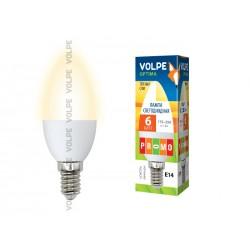 LED-C37-6W/WW/E14/FR/O картон