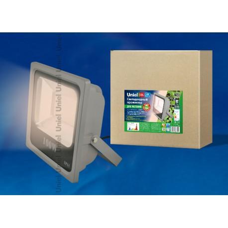 ULF-P40-100W/SPFR IP65 110-265В GREY Прожектор для растений светодиодный