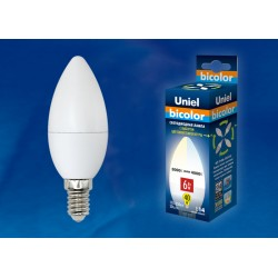 LED-C37-6W/WW+NW/E14/FR PLB01WH Лампа светодиодная