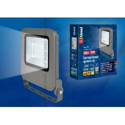 ULF-F17-50W/DW IP65 195-240В SILVER Прожектор светодиодный.