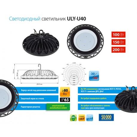 ULY-U40C-100W/DW IP65 BLACK Светильник светодиодный промышленный.
